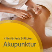 Akupunktbehandlung am Rücken - weiter zu Infos über Akupunktur
