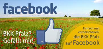 Icon für Facebook Daumen nach oben auf Mohnwiese - hier gehts zur Facebookpräsenz der BKK Pfalz