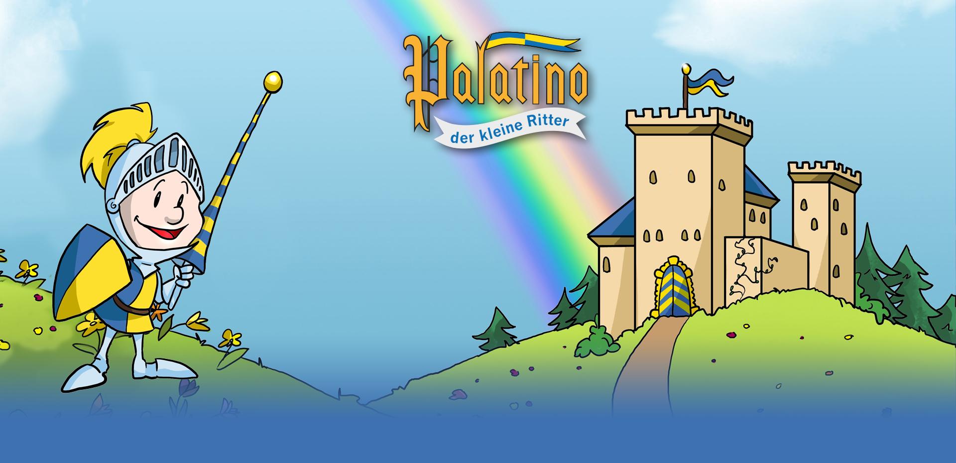 Ritter Palatino vor seiner Burg
