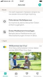Screenshot BKK Pfalz Vivy-App