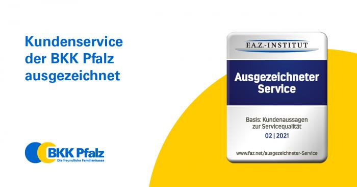 """Siegel F.A.Z. Institut """"Ausgezeichneter Service"""" 02-2021"""