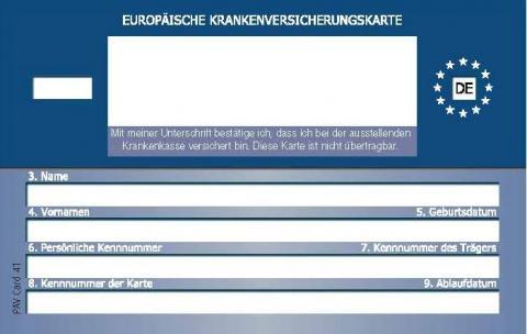 Ehic Karte.Die Elektronische Gesundheitskarte Egk Bkk Pfalz